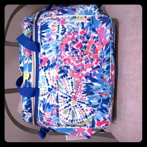 Lilly Pulitzer soft sided cooler/picnic set